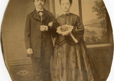Louis Tuchscherer mit seiner ersten Frau - Quelle: Schlossbergmuseum Chemnitz