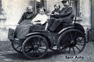"""Louis Tuchscherer - Sein Auto. Aus """"Das Magazin"""" Jg.54-02"""