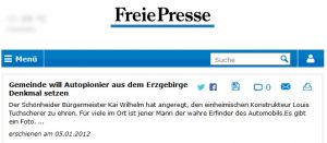 screen freipresse.de artikel gemeinde will autopionier aus dem erzgebirge ein denkmal setzen 05.01.2012